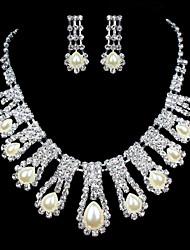 ME Vintage Luxury Austria Rhinestone Set Wedding Necklace And Earings Set T0009
