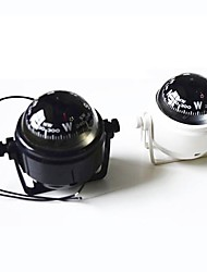 Marine Plastic Compass with Stand and Boat Caravan Truck 12V LED Light ZW-550--Black/White