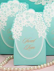 Chic Boîtes vert de faveur de mariage - Ensemble de 12