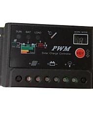 Contrôleur numérique détecteur 12v 24v 10a pwm système panneau solaire de charge de la batterie régulateur de maison à l'intérieur