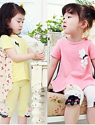 Girl's Fashion T-Shirts+Leggings Sets Lovely  Summer  Two Pieces Sets Clothing Set