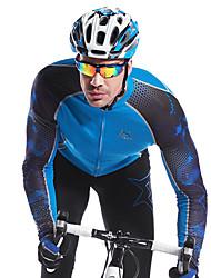 MYSENLAN Vélo/Cyclisme Maillot / Hauts/Tops Homme Manches longuesRespirable / Séchage rapide / Vestimentaire / Pare-vent / Garder au