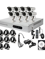 kit a basso prezzo 8ch cctv dvr ultra (h. 264, 8 esterne telecamere a colori impermeabili), hard disk da 500GB