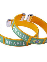 Brazil 2014 World Cup Knitting Couple Bracelets