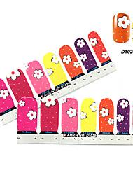 4x7PCS Cartoon Coreopsis Patroon Nail Art Stickers