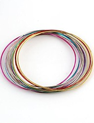 Multi-circle  Combination Pattern Colorful Metallic Bracelet (12pcs)