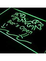 i814 Bar est ouvert Palmier Pub Beer Neon Light Enregistrez-vous