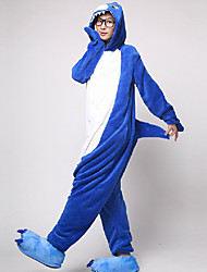 Kigurumi Pijamas Shark Malha Collant/Pijama Macacão Festival/Celebração Pijamas Animal Branco / Tinta Azul Miscelânea Velocino de Coral