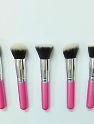 5 Makeup Brushes Set Nylon / Synthetic Hair Face / Lip / Eye