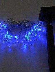 Blau 40LED Solar-LED-Licht-Fee String Christmas Party