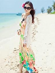 HUALIAN Women'S Silm Sleevless Fashion Floral Print Beach Dress