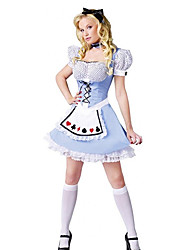 Lovely Girl Alice in Wonderland Blue Polyester Women's Halloween Costume