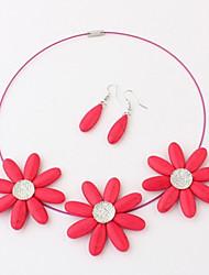 Colar do teste padrão de flor de Encanto Miisa mulheres e brincos cxt98061