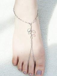 la mode shixin® laisse alliage forme d'argent sandale aux pieds nus (1 pc)