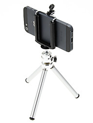I-11-SL Mini Desktop Aluminum Tripod with Double-deck Three Sections (Sliver) & Mobile Phone Tripod Mount Holder