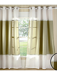 "(One Panel Grommet Top) 55""W * 84""L  Modern Classic Style Solid Energy Saving Curtain"