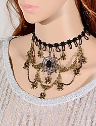 Elonbo Spiders and spider Web Style Vintage Gothic Lolita Collar Choker Pendant Necklace Jewelry