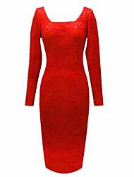 MS Красный Кружева Slim Fit платье