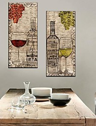 Stretched Canvas Art Still Life Wine And Wine Glasses Set of 2