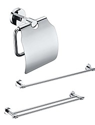 3 Embalado Latão Banho Acessórios Set, Single e Double Towel Titular Bar / Papel
