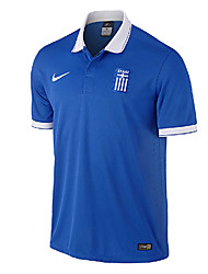 Men's SoccerJersey Short Sleeves Blue