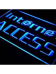 I214 ABERTO Acesso à Internet Serviços Luz Neon Sign