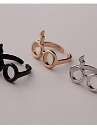 Fashion Unique Delicate Cute Eyeglass shape Finger Ring*1pc
