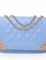 YanDu Korean Fair Maiden Style PU Crossbody Bag(Light Blue)