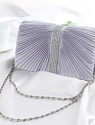Women's Multicolored satin clutch handbag chain fashion Shoulder Messenger 846 #