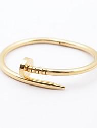 Ouro dos homens da moda / Prata / Rosa de Ouro aço inoxidável 316L prego Forma Bracelet