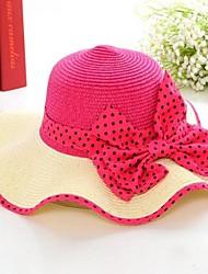 Damen-Strohhut wird in Big Red Hat verhindert Bask