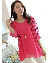 Women's Black/Pink Blouse ½ Length Sleeve