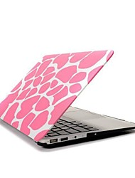 ENKAY Pink Deerskin Pattern Protective Polycarbonate Full Body Case for MacBook Air