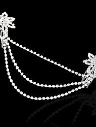 Fashion Silvery White Rhinestone Flower Double Bridal Hair Comb Pin Wedding Tiara