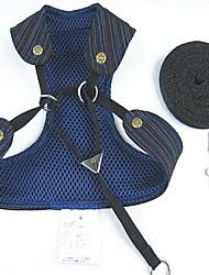 Chat / Chien Harnais / Laisses Ajustable/Réglable / Respirable Bleu / Or Tissu / Nylon / Toile de jean