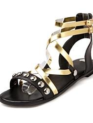 Talon plat spartiates chaussures des femmes (plus de couleurs)