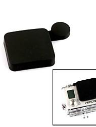 G-312-Black PANNOVO Professionelle schützende Silikonobjektivdeckel-Set für GoPro Hero 3 +