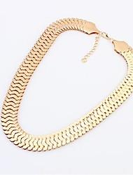Women's Europe Unique Fashion Thick Metal Necklace