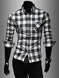 Men's Lapel Stripes Long Sleeve Shirt