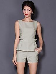 Fashion Casual Bow Suit des femmes (Vest + pantalon)
