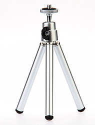 I-12-3-SL Mini Desktop Aluminum Tripod with Single-deck Three Sections (Sliver)