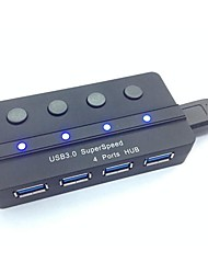 Portable Superspeed USB 3.0 4-Port Hub with Independent Switch