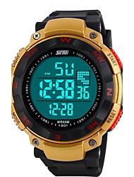 Herren Armbanduhr digital LED / LCD / Kalender / Chronograph / Wasserdicht / Alarm Caucho Band Schwarz / Blau / Grün Marke- SKMEI