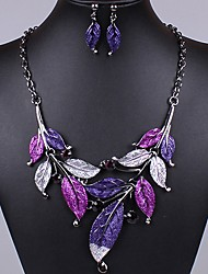 J&S Vintage Leaves Shaped Jewelry Set