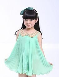 Girl's Lace Collar Chiffon Dress