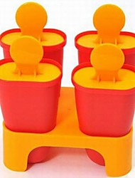 4 Case DIY Classic Popsicle Mould Ice Cream Mould