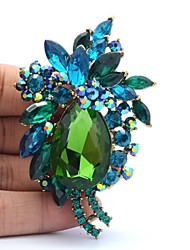 7.8cm Rhinestone and Alloy Flower Brooch Pin for Women Jewelry (More Colors)