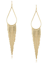 Damen Ohrring Gold Ohne Stein Drop Earrings