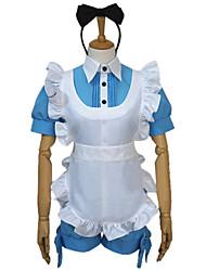 Inspiré par Black Butler Ciel Phantomhive Anime Costumes de cosplay Costumes Cosplay Mosaïque Bleu / RoseTop / Shorts / Casque / Tablier