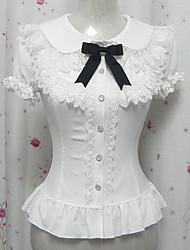 Candy Princess White Chiffon Short Sleeve Sweet Lolita Blouse
